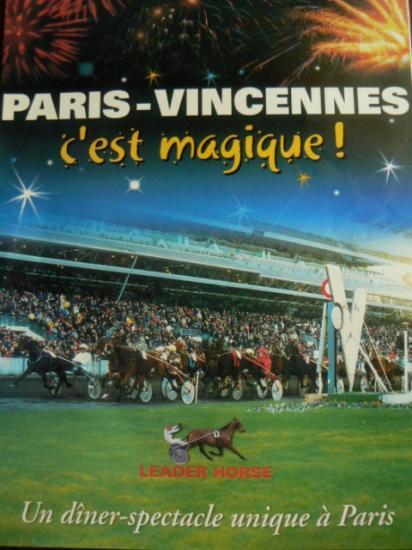 Dîner spectacle à l'hippodrome de Vincennes